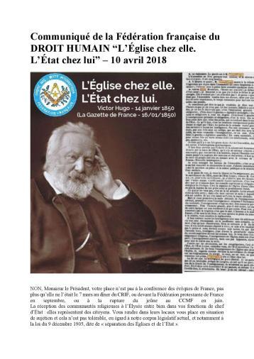 Communiqué de la Fédération française du DROIT HUMAIN-page-001