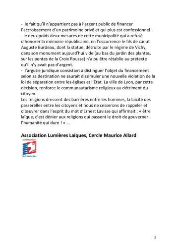 Communiqué Fourvière p2